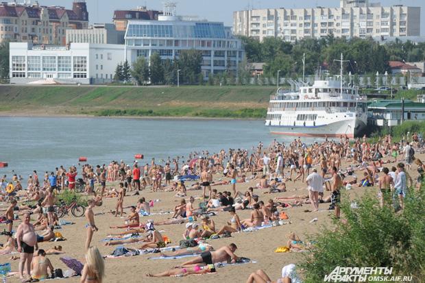 Куйбышевский пляж в омске фото
